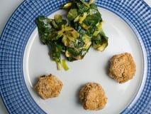 煮熟的蔬菜 免版税库存照片