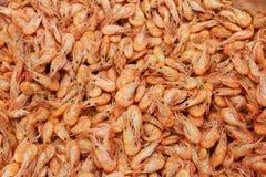 煮熟的虾纹理 免版税库存图片
