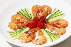 煮熟的虾 免版税图库摄影