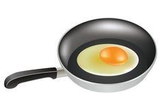 煮熟的蛋一半 免版税库存照片