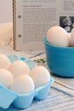 煮熟的蛋坚硬 免版税库存照片