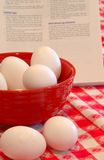 煮熟的蛋坚硬 库存照片