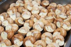煮熟的蜗牛纤巧 免版税库存图片