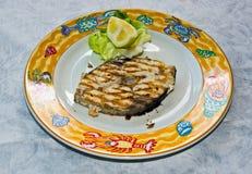 煮熟的鱼新鲜的格栅 库存照片