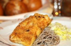 煮熟的鱼 免版税库存照片