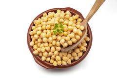 煮熟的鸡豆 免版税库存图片