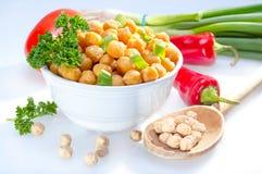 煮熟的鹰嘴豆豆。 库存图片