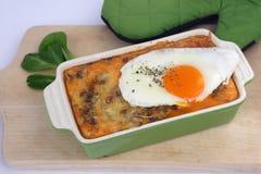 煮熟的绿色扁豆(透镜culinaris) 库存图片