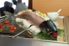 水煮的三文鱼 库存照片