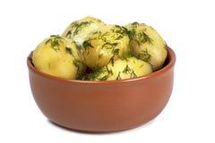 煮的马铃薯 库存图片