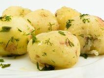 煮的马铃薯 免版税库存图片