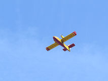 熄灭火的航空器 免版税库存图片