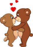 熊亲吻 免版税库存照片