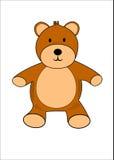 熊例证女用连杉衬裤 免版税图库摄影