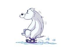 熊冰雪撬 库存例证
