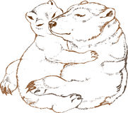 熊剪报包含极性庄稼更加容易的系列图象的路径 免版税库存图片