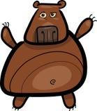 熊动画片北美灰熊例证 库存例证
