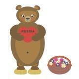 熊和心脏 免版税库存图片