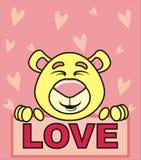 熊和爱 库存图片