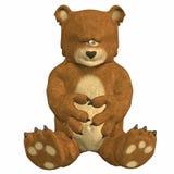 熊哀伤的女用连杉衬裤 向量例证
