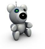 熊回报机器人techno玩具 免版税库存图片