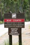 熊国家(地区)警告 库存照片