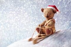 熊圣诞老人女用连杉衬裤 库存图片