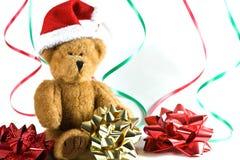 熊圣诞老人 库存图片