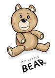 熊圣诞节可爱的晚上女用连杉衬裤 免版税库存照片