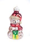 熊圣诞节查出的白色 库存照片