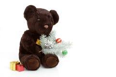熊圣诞节浪漫女用连杉衬裤结构树wihs 库存照片
