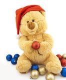 熊圣诞节装饰戏弄结构树 库存照片