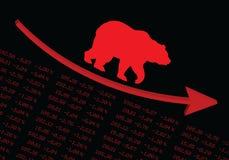 熊在市场上 库存例证