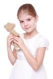 熊女孩少许玩具 免版税图库摄影