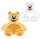 熊女用连杉衬裤玩具向量 图库摄影