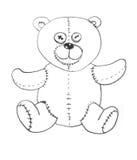 熊女用连杉衬裤玩具 库存图片