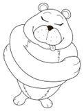 熊容忍 向量例证