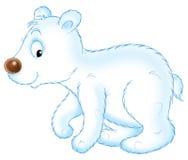 熊小的白色 向量例证