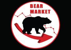 熊市 股市下来 向量例证
