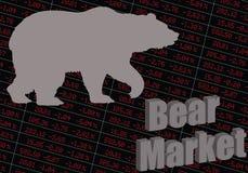 熊市 股市下跌 向量例证