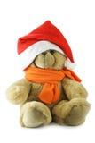 熊帽子圣诞老人女用连杉衬裤 免版税库存图片