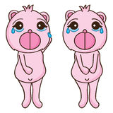 熊悲伤泪花 免版税库存照片