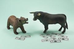 熊或牛市 免版税库存图片