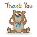 熊接触感谢您 免版税库存照片