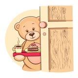 熊早餐藏品女用连杉衬裤盘 皇族释放例证