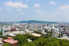熊本城堡顶视图在熊本日本 免版税图库摄影