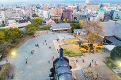 熊本城堡,日本,熊本- 2014年12月06日 库存图片