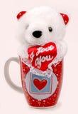 熊杯子 库存照片