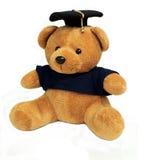 熊毕业玩具 免版税库存照片
