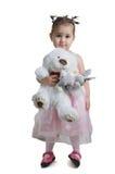 熊漂亮的孩子白色 免版税库存图片